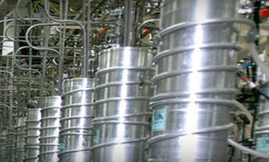 Uranium centrifuges in the Natanz Uranium Enrichment Facility, about 200 km south of Tehran, 2008.