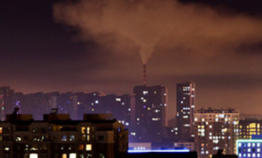 Sept. 1, 2010: A coal-fired power plant's emissions are seen during the night in Changchun, China. China spent $34.6 billion on clean energy in 2009.