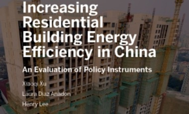 Increasing Residential Building Energy Efficiency In China: An Evaluation of Policy Instruments