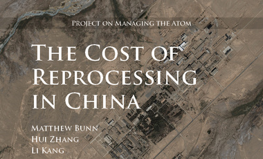The Cost of Reprocessing in China