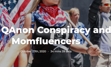 QAnon Conspiracy and Mominfluencers graphic
