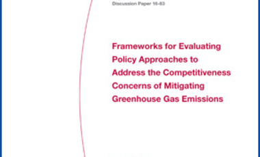Frameworks for Evaluating Policy Approaches to Address the Competitiveness Concerns of Mitigating Greenhouse Gas Emissions