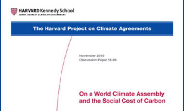 On a World Climate Assembly and the Social Cost of Carbon