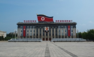Pyongyang, North Korea – July 27, 2011: Kim Il-Sung Square, named after the founding leader of the DPRK.