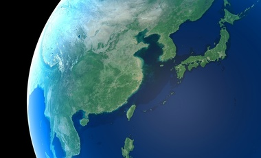 East Asia as seen from space