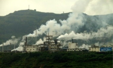 A Factory in China at the Yangtze River, Sept. 2008. China's local officials emphasize short-term economic growth over compliance with antipollution directives.