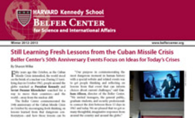 Belfer Center Newsletter Winter 2012-2013