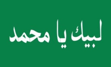 Flag of the Promised Day Brigades—a Shiite militia aligned with the Sadrist movement in Iraq. It was created in November 2008.