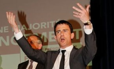 Manuel Valls at the Socialist rally in Belfort for the 2012 French parliamentary election, June 14, 2012.