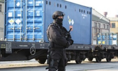 Security detail overseeing the secure transportation of highly enriched uranium to Russia in Poland, October 2010