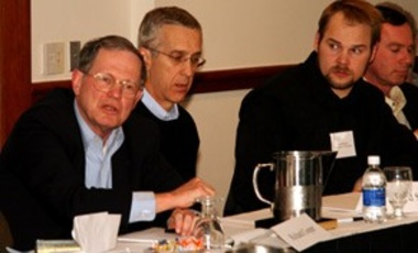 Richard Cooper (L), Professor of International Economics, Harvard; Todd Stern (M), Senior Fellow, Center for American Progress, and Bard Harstad (R), Assistant Professor of Managerial Economics & Decision Sciences, Northwestern University