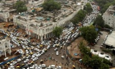 Traffic lights went out across New Delhi, India, July 31, 2012, causing traffic jams. India's energy crisis spread over half the country when both its eastern and northern electricity grids collapsed, leaving 600 million people without power.