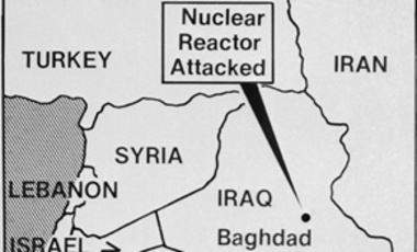 Israeli warplanes attack and destroyed Iraq's nuclear reactor outside Baghdad, June 8,1981.