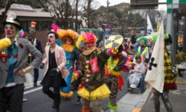 Many dressed up participants demonstrated for shutting down nuclear reactors in Japan, after the Fukushima Daiichi accident, walking around the streets of Tokyo, Japan, Dec. 25, 2012.