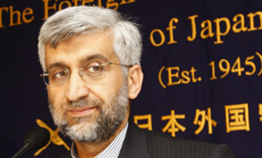 Iran's top nuclear negotiator Saeed Jalili at the Foreign Correspondents' Club of Japan in Tokyo, Dec. 21, 2009. He has called for all nuclear weapons states to disarm, but said all states have the right to develop nuclear energy.