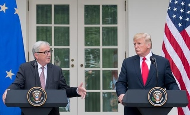 Jean-Claude Juncker, President of the EC accompanied by Cecilia Malmström, Member of the EC in charge of Trade visit Washington, where they attend meetings at the White House.
