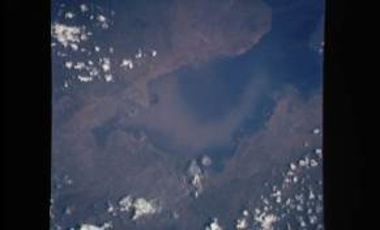 Kavirondo gulf and sedimentation (Lake Victoria, Kenya), April 30, 1993. A space program could also help Kenya monitor climate change and support decisions on critical regional resources such as Lake Victoria.