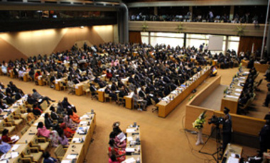 12th Summit of the Common Market for Eastern and Southern Africa, COMESA, at the United Nations Complex in Nairobi, Kenya, May 22, 2007. Leaders of Africa's largest trade bloc discuss a timetable for creating a 20-state customs union.