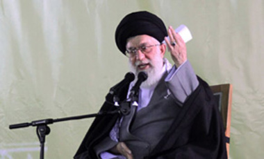 Mashad, Iran, Mar. 21, 2010: Iran's supreme leader Ayatollah Ali Khamenei accused the U.S. of plotting to overthrow the clerical leadership in response to an overture by President Barack Obama.
