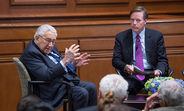 Kissinger at Harvard in January 2015.