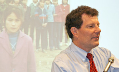 Nicholas D. Kristof, New York Times columnist and co-author of Half The Sky: Turning Oppression Into Opportunity For Women Worldwide, discusses integration of women as part of a solution to global problems at a seminar in September