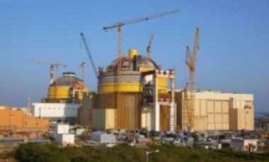 Construction site of the Kudankulam Nuclear Power Plant in Tamil Nadu, India, 14 April 2009. Atomstroyexport, Rosatom's overseas project manager, is a partner in the construction.
