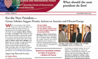 Belfer Center Newsletter Winter 2008-09