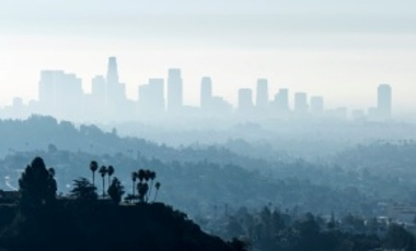 Los Angeles skyline and smog