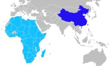 Member states of the Forum on China-Africa Cooperation (FOCAC).