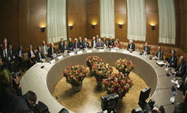 P5+1 and Iranian foreign ministers at the 2013 Geneva negotiations