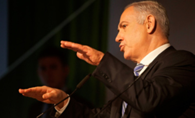 Israeli Prime Minister Benjamin Netanyahu speaks during a conference in Tel Aviv, Tuesday, Feb. 28, 2012.