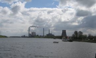 Coal-fired Amer power plant near Drimmelen, North-Brabant, Netherlands.