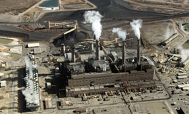 This Nov. 9, 2009, image shows the coal-fired San Juan Generating Station near Farmington, N.M. The electricity-generation sector accounts for not much more than a third of U.S. CO2 emissions.