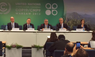 """Linkage: A Promising Approach to Achieving the Goals of the Durban Platform"" Side-event Panel at COP-19, Warsaw, Poland, Nov. 18, 2013."