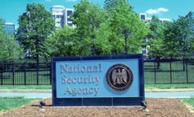 Sign at the headquarters of the National Security Agency, December 20, 2005.