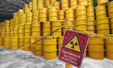 Barrels containing nuclear waste are stored in the nuclear waste depot in Morsleben, eastern Germany, Wednesday, Oct. 21, 2009.