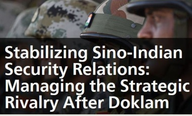 Stabilizing Sino-Indian Security Relations image