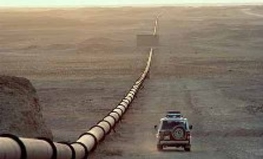 An oil pipeline through Iraq