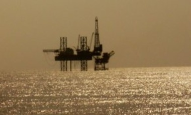 Solitary Oil Rig in Arabian Sea
