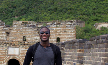 China's Wonder: Orga Cadet at the Great Wall.