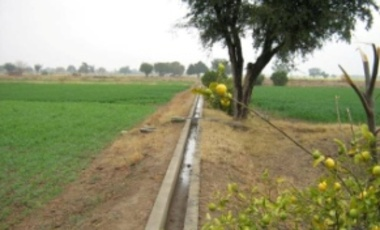 Drain for irrigation by tube wells, Pakistan, Dec. 24, 2007.