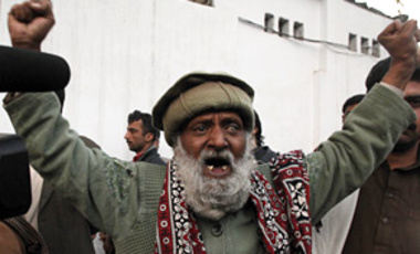 A supporter of Pakistan People's Party mourns the death of Punjab's governor Salman Taseer who was shot dead by one of his guards, at a local hospital in Islamabad, Pakistan, on Jan. 4, 2011.