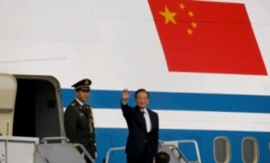 Chinese Premier Wen Jiabao waved upon his arrival at Chaklala airbase in Rawalpindi, Pakistan, on Dec. 17, 2010, for a rare visit that focused on expanding trade between the neighbors and longtime allies.