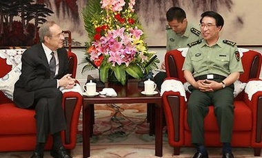 PDP Co-Director Dr. William Perry meets with General Xu Caihou, vice-chairman of China's Central Military Commission.