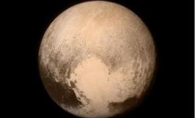 Dwarf planet Pluto as seen from the New Horizons space craft.