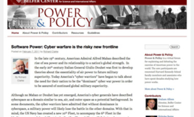 Belfer Center Launches Virtual Forum: Power & Policy