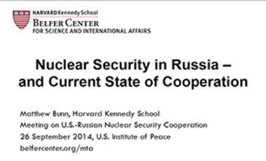 Nuclear Security in Russia – and Current State of Cooperation