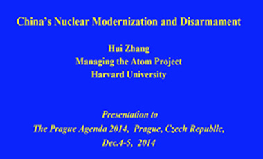 China's Nuclear Modernization and Disarmament