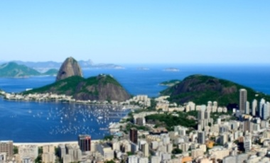 View of Sugarloaf and Guanabara Bay, Rio de Janiero, Brazil. Rio de Janiero is the site of the United Nations Conference on Sustainable Development (Rio+20).