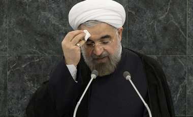 President Rouhani addresses the 68th UN General Assembly in New York, before holding a private dinner at the UN Hotel (2013).